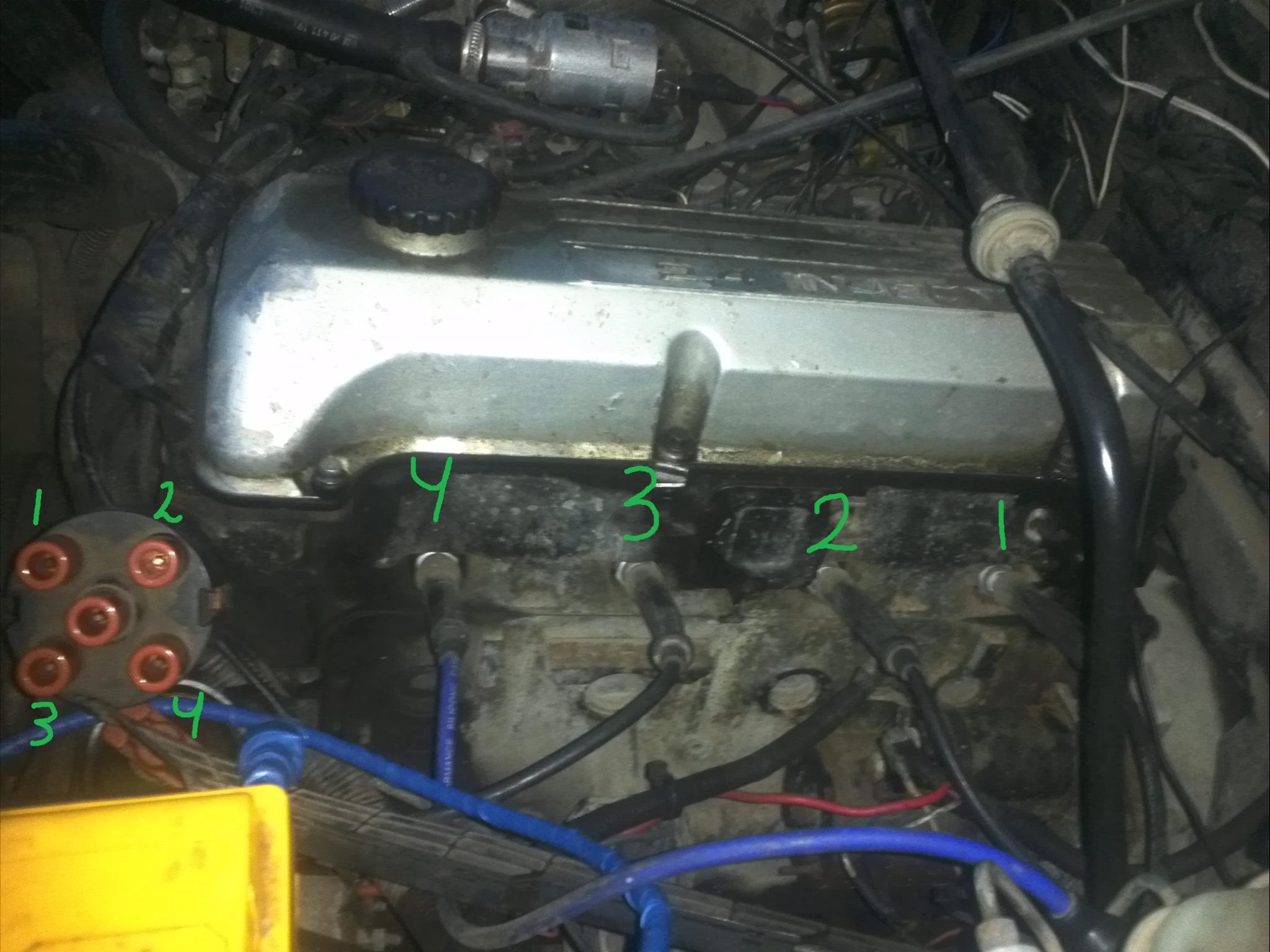 порядок установки высоковольтных проводов опель c20ne фото