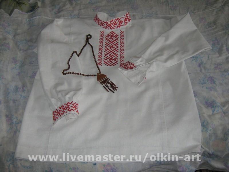 Русская рубаха косоворотка с