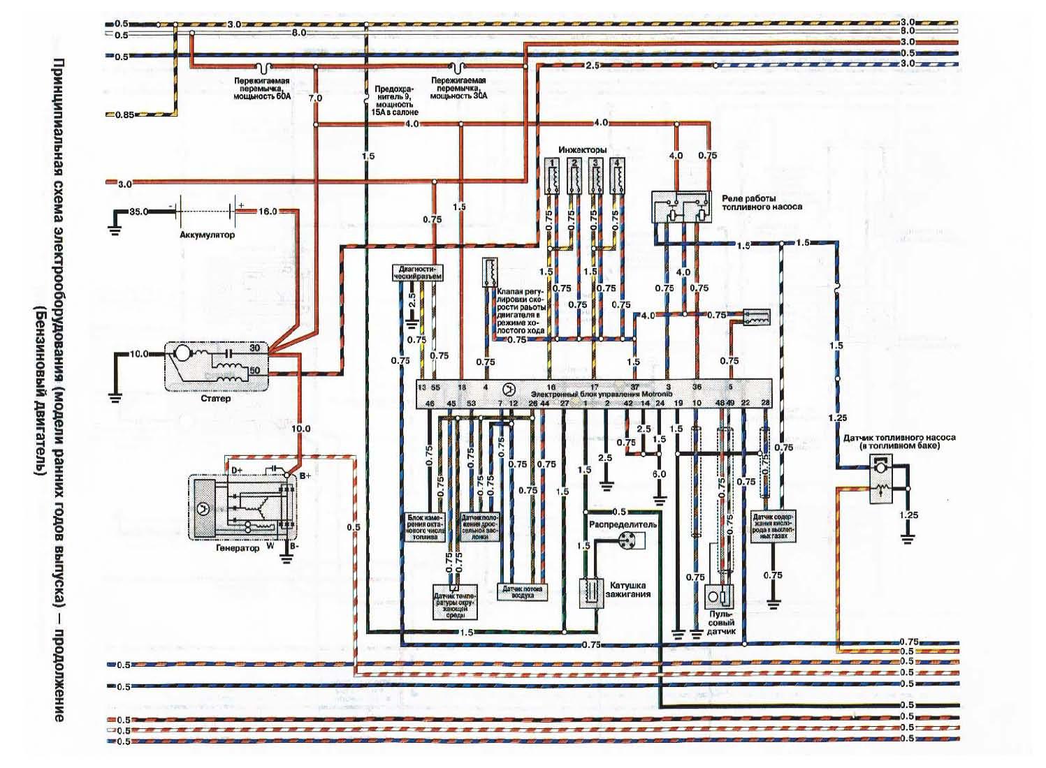 Схема топливной системы фронтера